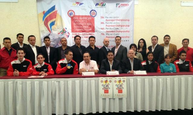 Con la presencia de los recientes medallistas mundiales de Puebla 2013, fue presentado este miércoles de manera oficial y ante los medios de comunicación, el Campeonato Panamericano de Taekwondo 2013 y Open Panamericano.