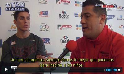 """""""MasTaekwondo TV"""" tuvo la oportunidad de entrevistar a la máxima estrella del Taekwondo de todos los tiempos, Steven López de EE.UU., Penta Campeón Mundial y Bi Campeón Olímpico y a su hermano y entrenador, Jean López."""