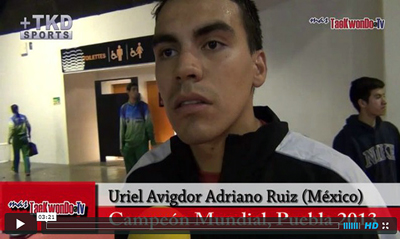 MasTaekwondo TV entrevistó al actual campeón del mundo de México luego de su participación en el Argentina Open 2013 donde conquistó la medalla de bronce, y habla de su compromiso en la primera fecha del Grand Prix.
