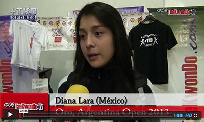 """""""MasTaekwondo TV"""" entrevistó a la atleta Diana Lara de México, quien consiguió el pasado fin de semana (31 de agosto y 1 de septiembre), la medalla de Oro en el """"1er Argentina Open"""" (G-1), realizado en la ciudad de Buenos Aires."""