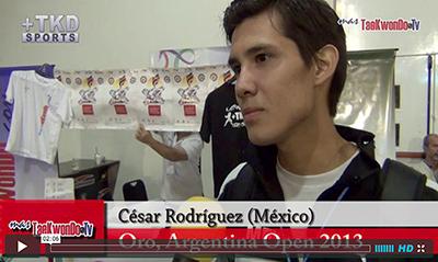 """""""MasTaekwondo TV"""" entrevistó al atleta Cesar Rodríguez de México, quien consiguió el pasado fin de semana (31 de agosto y 1 de septiembre), la medalla de Oro en la categoría sénior -54 Kg. en el """"1er Argentina Open"""" (G-1), realizado en la ciudad de Buenos Aires."""