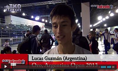 """""""MasTaekwondo TV"""" entrevistó al atleta Lucas Guzmán de Argentina, quien consiguió el pasado fin de semana (31 de agosto y 1 de septiembre), la medalla de Oro en la categoría sénior -58 Kg. en el """"1er Argentina Open"""" (G-1), realizado en la ciudad de Buenos Aires."""