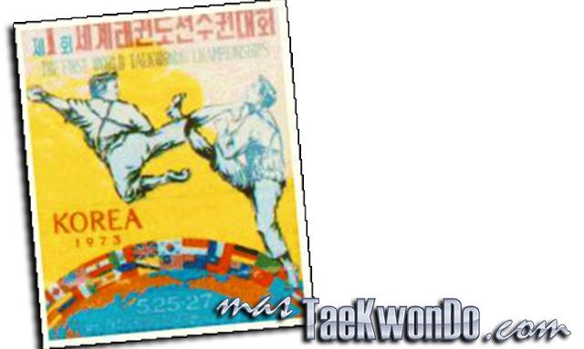 El Primer Campeonato Mundial de Taekwondo fué organizado por la Asociación Coreana de Taekwondo (KTA, por su siglas en ingles). Se celebraron en el