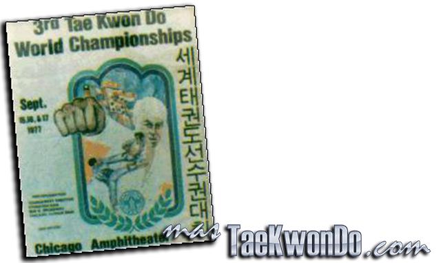 """El Tercer Campeonato Mundial de Taekwondo se celebró en el estadio """"International Amphitheatre"""" en Chicago (Estados Unidos) del 15 al 17 de septiembre de 1977, con la participación de 720 competidores masculinos y oficiales de 46 países."""