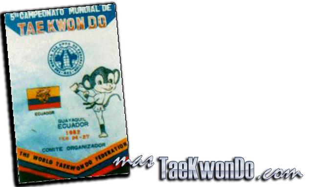 """El Quinto Campeonato Mundial de Taekwondo se celebró en el estadio """"Coliseo Cerrado"""" en Guayaquil (Ecuador) del 24 al 27 de Febrero de 1982, con la participación de 229 competidores masculinos de 35 países."""