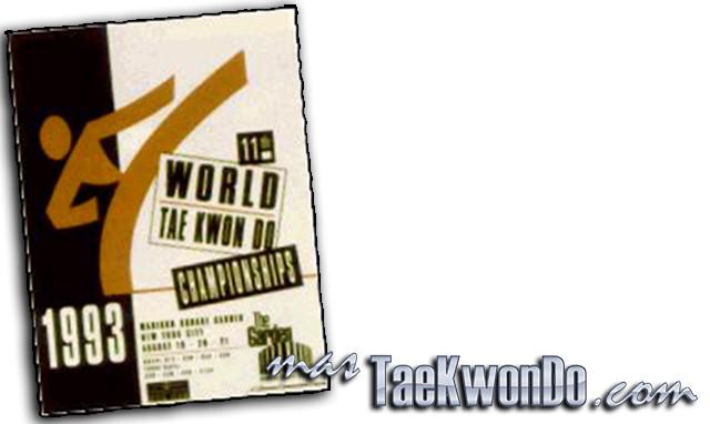 """El Décimo Primer Campeonato Mundial de Taekwondo masculino y la Cuarta edición del femenino se celebró en el """"Madison Square Garden"""" de Nueva York (Estados Unidos) del 19 al 21 de Agosto de 1993, con la participación de un total de 669 competidores de 83 países."""