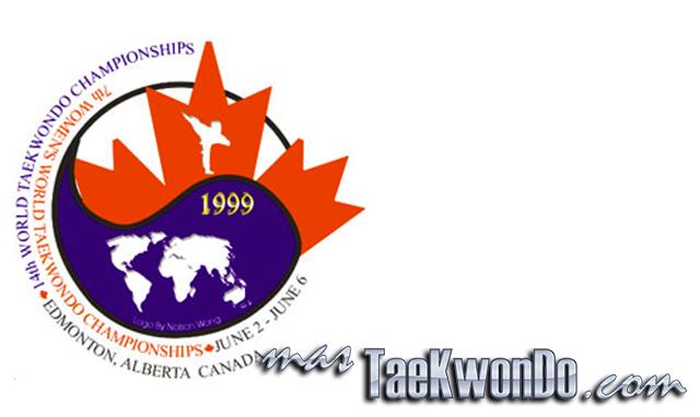 """El Décimo Cuarto Campeonato Mundial de Taekwondo masculino y la séptima edición del femenino se celebró en el estadio """"Butterdome"""" de Edmonton (Canadá) del 2 al 6 de Junio de 1999, con la participación de un total de 550 competidores de 66 países."""