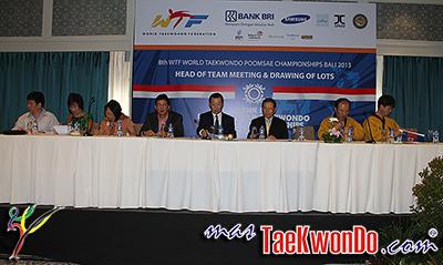 """El """"8th WTF World Poomsae Taekwondo Championships"""" ya se puso en marcha en la paradisíaca Bali, Indonesia, con la realización dentro del Westin Nusa Dua Hotel & Spa del """"Head of Team Meeting & Drawing of Lots"""" Aquí todos los detalles."""