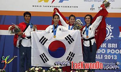 Resultados Completos del Campeonato Mundial de Poomsae 2013 de la WTF, que se está llevando a cabo en la ciudad de Bali, Indonesia; del 31 de octubre al 3 de noviembre.