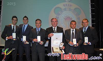 El acto de entrega de las distinciones 2013 se efectuó en el Teatro Alcazar-Cofidis de Madrid, España y estuvo presidido por la Infanta Elena. La comisión de evaluación de la Real Orden al Mérito Deportivo ha entregado varios reconocimientos al Taekwondo.