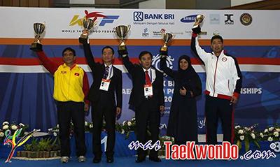 """Corea ganó siete medallas de oro y cuatro medallas de plata por el título general en el """"8th WTF World Taekwondo Poomsae Championships"""", que concluyó en Bali, Indonesia, el 3 de noviembre de 2013."""