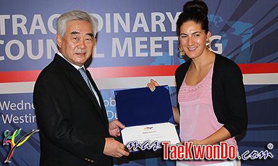 La campeona del mundo y medallista olímpica por Gran Bretaña, Sarah Stevenson, fue nombrada para ocupar un lugar dentro del Consejo Ejecutivo de la WTF como representante de los atletas.