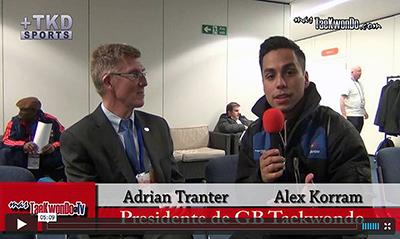 """""""MasTaekwondo TV"""" conversó en exclusiva con el titular del ente rector del Taekwondo en el Reino Unido, Adrian Tranter, horas antes del comienzo del 2013 World Taekwondo Grand Prix."""