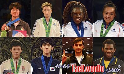 Los dieciséis mejores renqueados del mundo de cada categoría olímpica (-49, -57, -67 y +67 Kg. femenino; -58, -68, -80 y +80 Kg. masculino) correspondientes al mes de Diciembre del 2013 según lo reflejado por la World Taekwondo Federation (WTF).