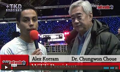 """""""MasTaekwondo TV"""" conversó en exclusiva con el Presidente de la World Taekwondo Federation, Dr. Chungwon Choue, quien nos dio sus impresiones respecto a esta nueva era que se vive en nuestro deporte."""
