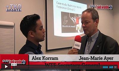 """""""MasTaekwondo TV"""" conversó en exclusiva con el Secretario General de la WTF, Dr. Jean-Marie Ayer, durante la celebración del """"2013 World Taekwondo Grand Prix""""."""