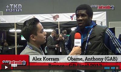 """""""MasTaekwondo TV"""" conversó en exclusiva con Anthony Obame de Gabon, quien recientemente consiguió la medalla de Broce en el """"2013 World Taekwondo Grand Prix"""", realizado en la ciudad británica de Manchester."""