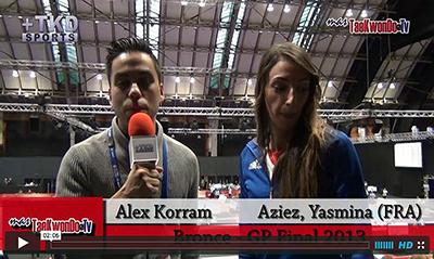 """""""MasTaekwondo TV"""" conversó en exclusiva con Yasmina Aziez de Francia, quien recientemente consiguió la medalla de Bronce en el """"2013 World Taekwondo Grand Prix"""", realizado en la ciudad británica de Manchester."""