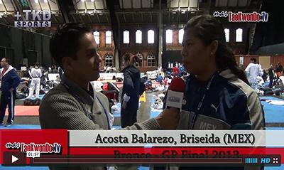 """""""MasTaekwondo TV"""" conversó en exclusiva con Briseida Acosta Balarezo de Mexico, quien recientemente consiguió la medalla de Bronce en el """"2013 World Taekwondo Grand Prix"""", realizado en la ciudad británica de Manchester."""