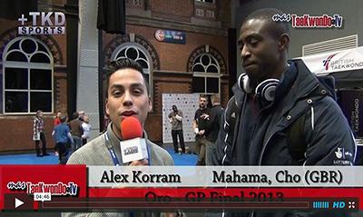 """""""MasTaekwondo TV"""" conversó en exclusiva con Entrevista a Cho Mahama del Reino Unido, quien recientemente consiguió la medalla de Oro en el """"2013 World Taekwondo Grand Prix"""", realizado en la ciudad británica de Manchester."""