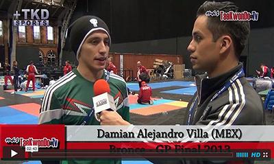"""""""MasTaekwondo TV"""" conversó en exclusiva con Damian Alejandro Villa de Mexico, quien recientemente consiguió la medalla de Bronce en el """"2013 World Taekwondo Grand Prix"""", realizado en la ciudad británica de Manchester."""