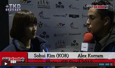 """""""MasTaekwondo TV"""" conversó en exclusiva con Sohui Kim de Corea, quien recientemente consiguió la medalla de Plata en el """"2013 World Taekwondo Grand Prix"""", realizado en la ciudad británica de Manchester."""