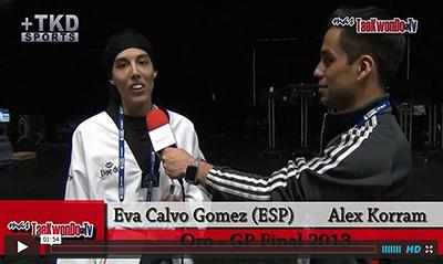 """""""MasTaekwondo TV"""" conversó en exclusiva con Eva Calvo Gomez de España, quien recientemente consiguió la medalla de Oro en el """"2013 World Taekwondo Grand Prix"""", realizado en la ciudad británica de Manchester."""