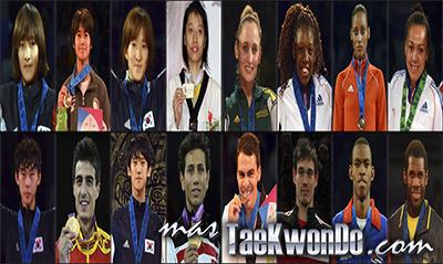Los diez mejores ranqueados del mundo de cada categoría correspondientes al mes de Enero del 2014 según lo reflejado por la World Taekwondo Federation (WTF).