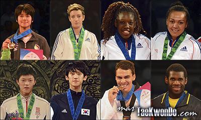 Los dieciséis mejores renqueados del mundo de cada categoría olímpica (-49, -57, -67 y +67 Kg. femenino; -58, -68, -80 y +80 Kg. masculino) correspondientes al mes de Enero del 2014 según lo reflejado por la World Taekwondo Federation (WTF).