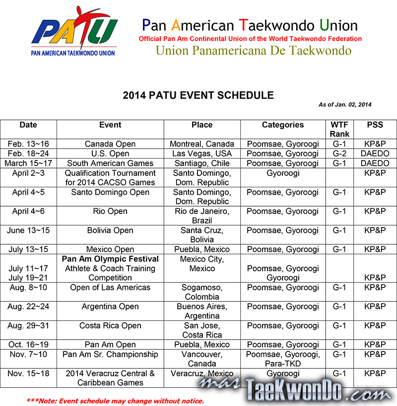 PATU-EVENT-SCHEDULE