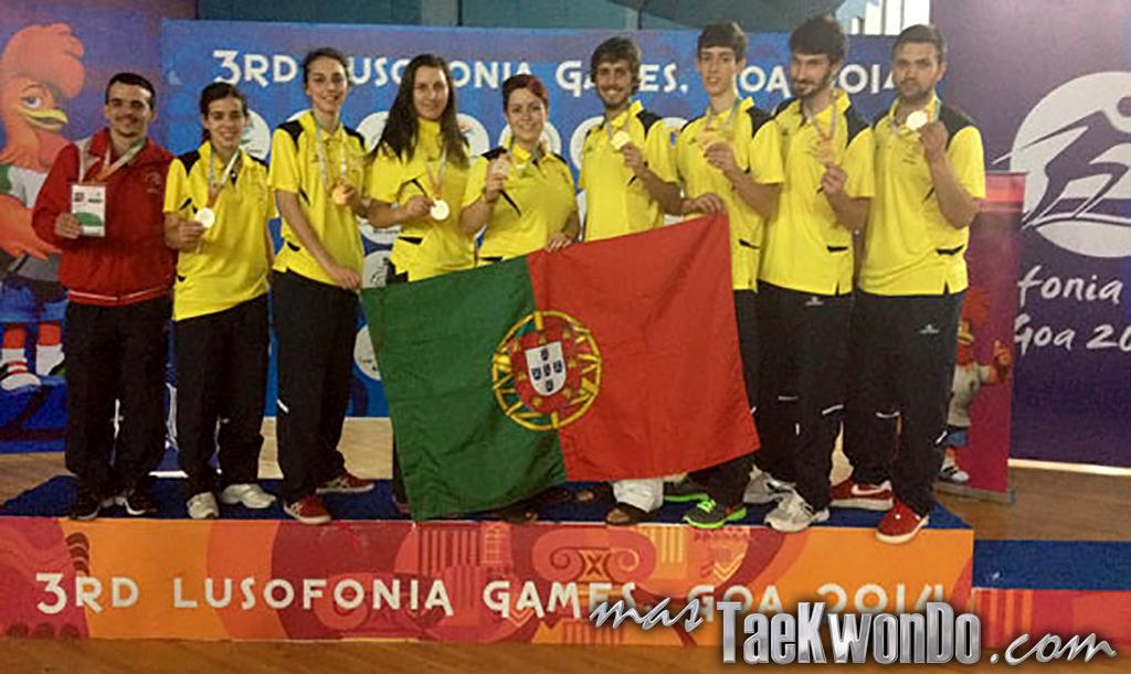 Los Juegos de la Lusofonía son un evento multideportivo que se lleva a cabo cada cuatro años y es exclusivo para países de habla portuguesa. En el Taekwondo el máximo galardón se lo llevó Portugal. En esta edición no estuvo presente Brasil.
