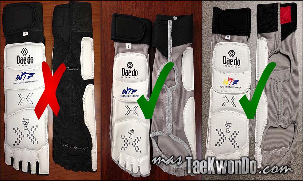 Los protectores de pie de la marca Daedo que todos tenían hasta hoy, excepto los de Londres 2012, no servirán a partir del 1 de marzo de 2014, y para el Mundial Juvenil y Selectivo Olímpico de China Taipéi, deberán comprarse los nuevos.