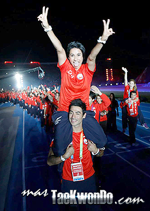 Yeny Contreras y Mario Guerra de Taekwondo (Chile)