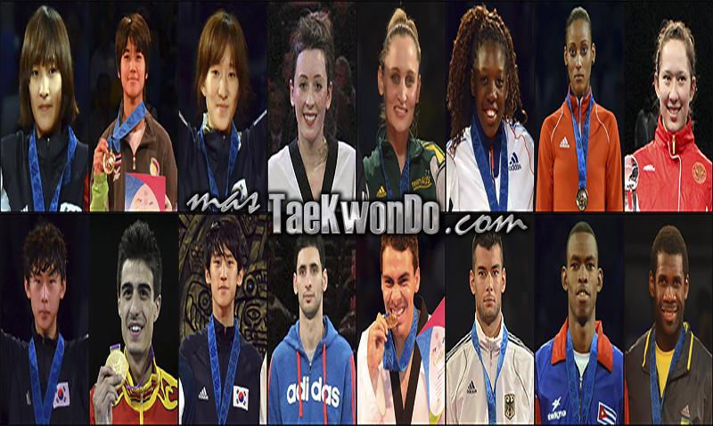 Los diez mejores ranqueados del mundo de cada categoría correspondientes al mes de Marzo del 2014 según lo reflejado por la World Taekwondo Federation (WTF).
