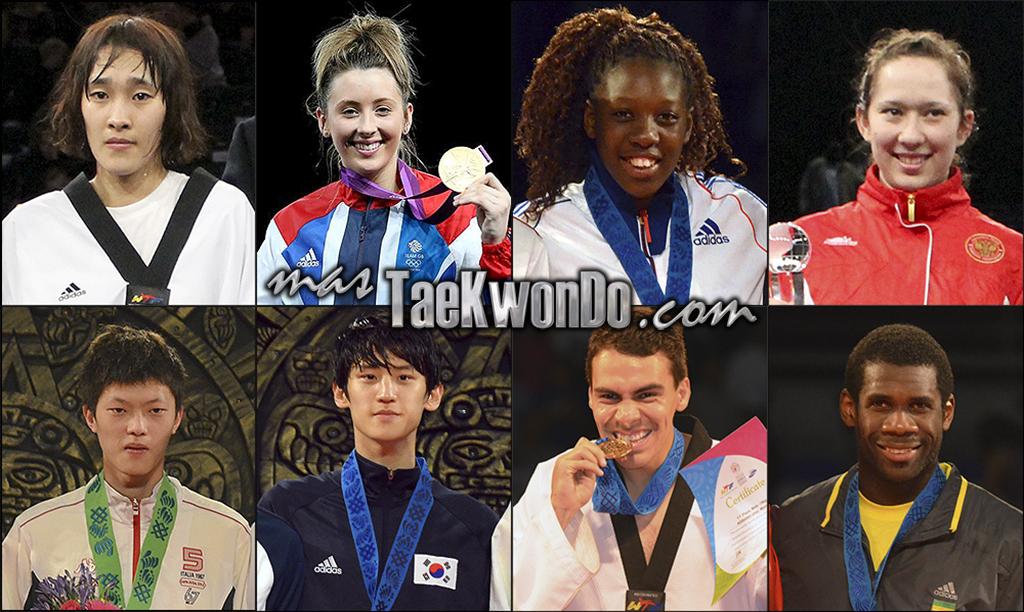 Los dieciséis mejores renqueados del mundo de cada categoría olímpica (-49, -57, -67 y +67 Kg. femenino; -58, -68, -80 y +80 Kg. masculino) correspondientes al mes de Marzo del 2014 según lo reflejado por la World Taekwondo Federation (WTF).