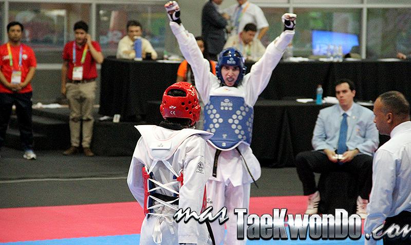 Galería de fotos del Taekwondo de la categoría FLY en el segundo día de competencia durante la decima edición de los Juegos Suramericanos realizados en Santiago de Chile entre 14 países de la región. Nuestro deporte participa del 16 al 18 de marzo de 2014.