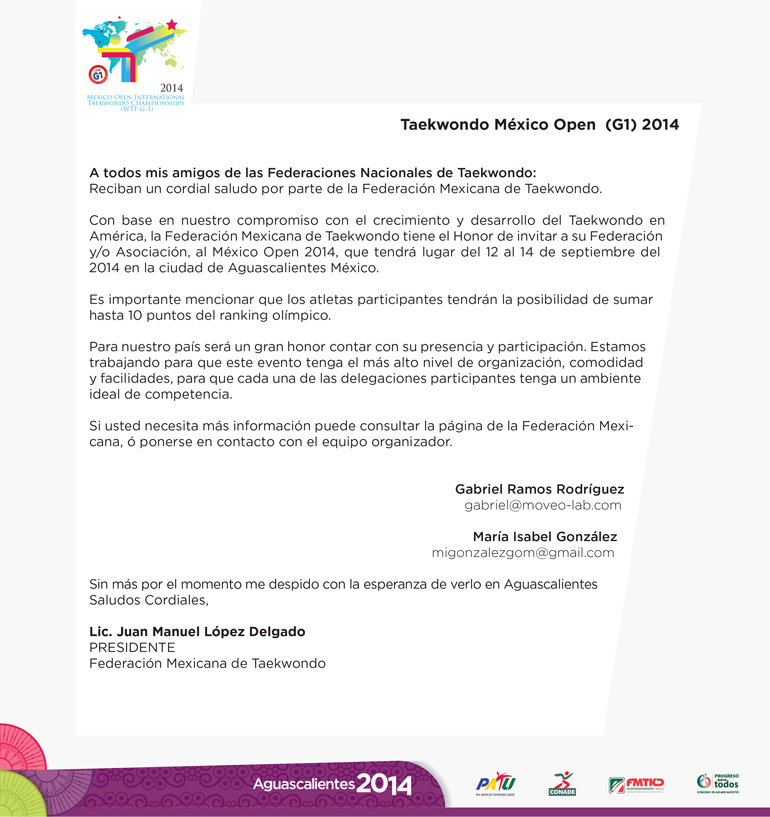 Mail invitación México Open