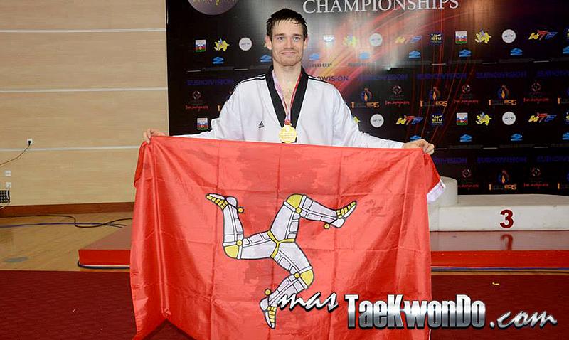 El británico que ahora defiende los colores de Isla de Man, consiguió subir a lo más alto del Taekwondo de Europa tras derrotar en la final nada más y nada menos que a Damon Sansum de Gran Bretaña.