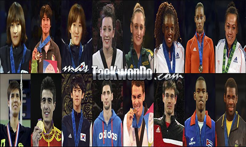 Los diez mejores ranqueados del mundo de cada categoría correspondientes al mes de Mayo del 2014 según lo reflejado por la World Taekwondo Federation (WTF).