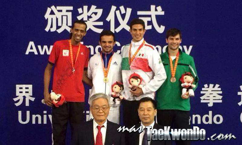 Resultados de la modalidad de Combates durante la 13ª edición del Campeonato Mundial Universitario celebrado del 10 y 14 de junio de 2014 en la ciudad de Hohhot, Mongolia Interior, China. Evento catalogado como G-1 para el Ranking WTF.