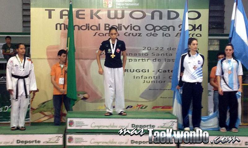 Podio G1 Bolivia Open Femenino -57 Kg.