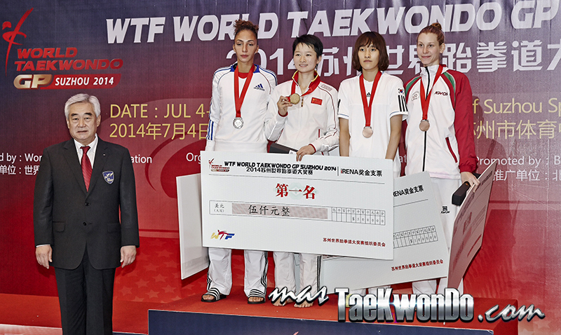 2014 WTF World Taekwondo Grand Prix Series 1, Podio F-49