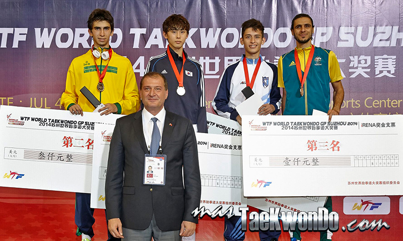 2014 WTF World Taekwondo Grand Prix Series 1, Podio M-58