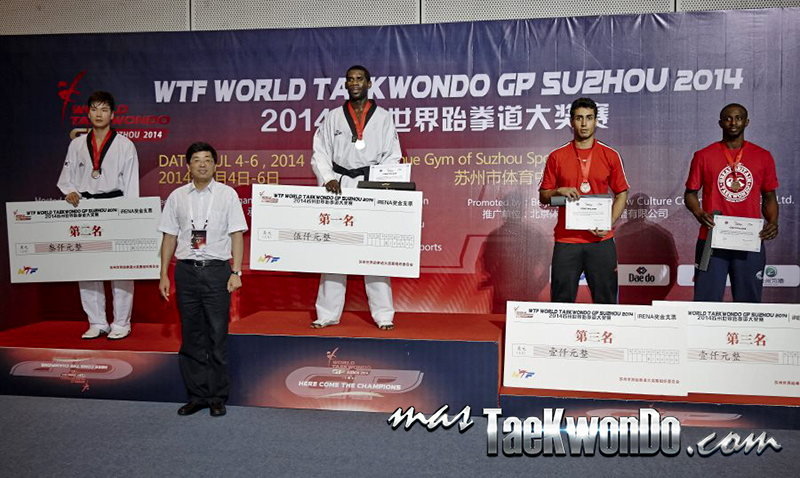2014 WTF World Taekwondo Grand Prix Series 1, Podio M+80