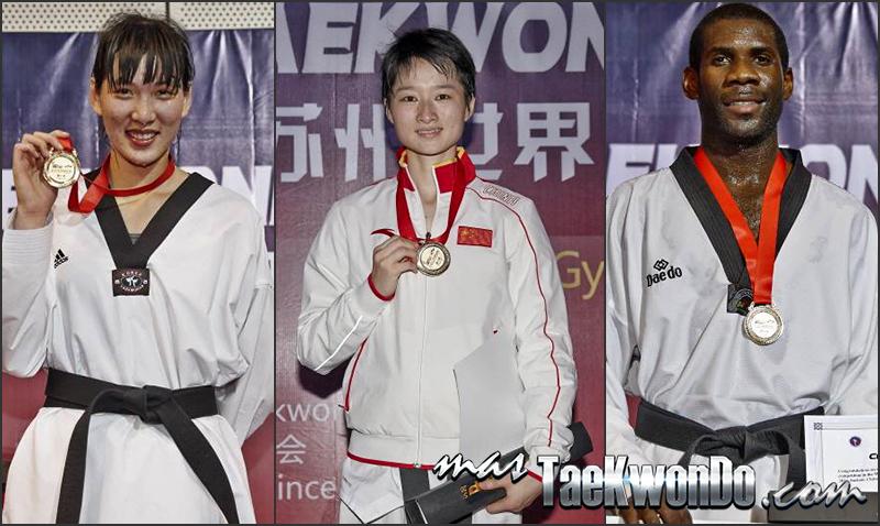 medallistas de oro del GP SUZHOU 2014 - Taekwondo