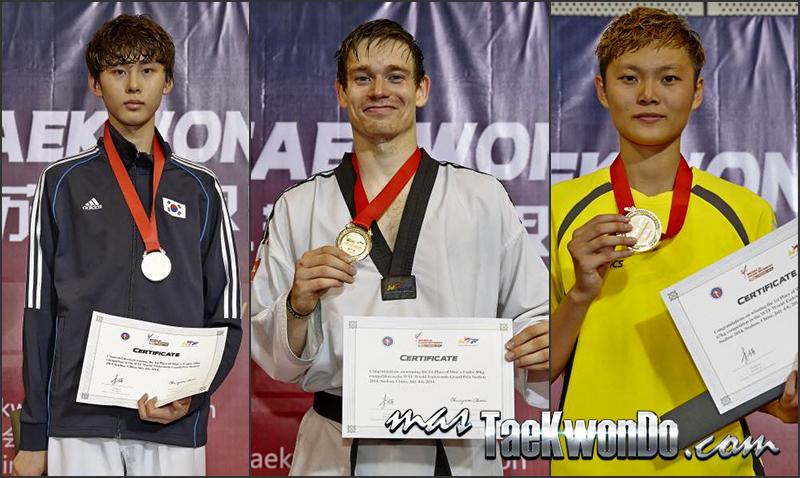 Suzhou 2014, taekwondo, medallistas de Oro