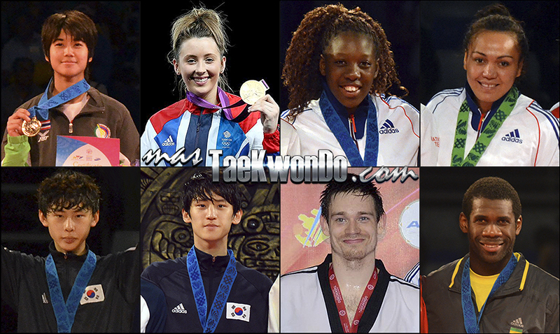 Números 1 – WTF World Olympic Ranking – Taekwondo WTF – Junio 2014.