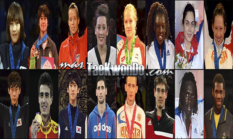 Números 1 – WTF World Ranking – Taekwondo WTF – Junio 2014.