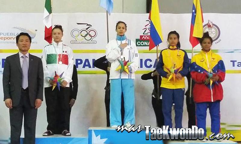 Festival Olímpico Deportivo Panamericano de Taekwondo, Podio sub21 F-49