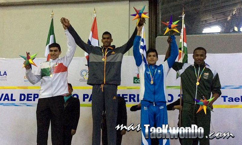 Festival Olímpico Deportivo Panamericano de Taekwondo, Podio sub21 M-80